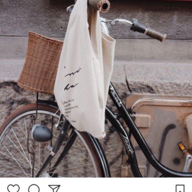 韓國代購Depound 咖啡包 帆布包