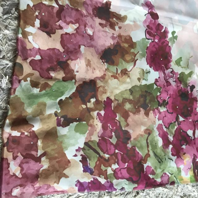 Floral Shawl With Beads #Reduced