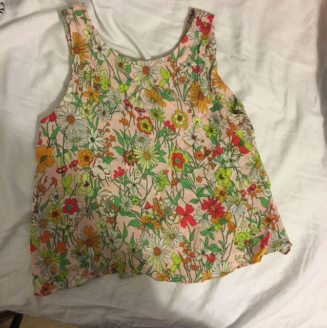 Flowery Zara tank top