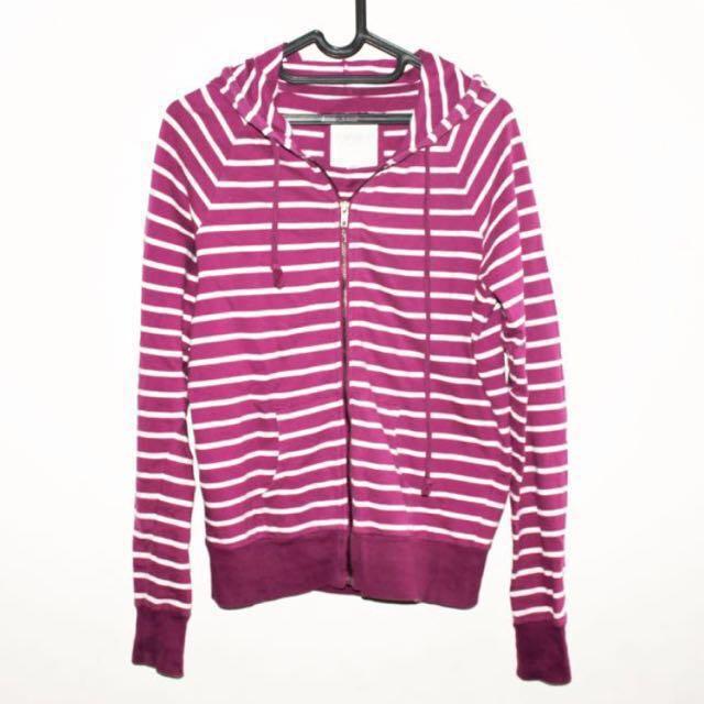 Forever 21 stripes hoodie zipper