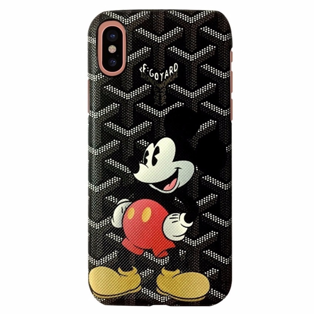 Goyard Iphone X Case Fashion Luxury Cover Mickey Mouse