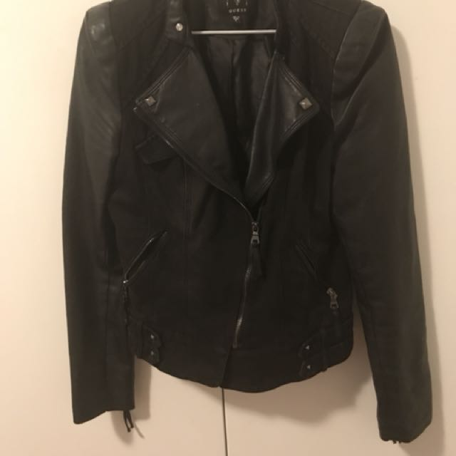 Guess Denim/leather Jacket