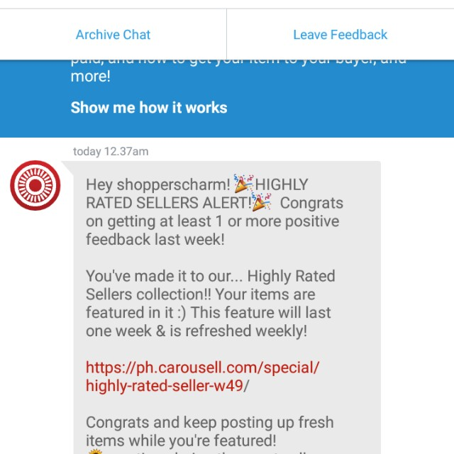 High rated seller again! Thank you carousell