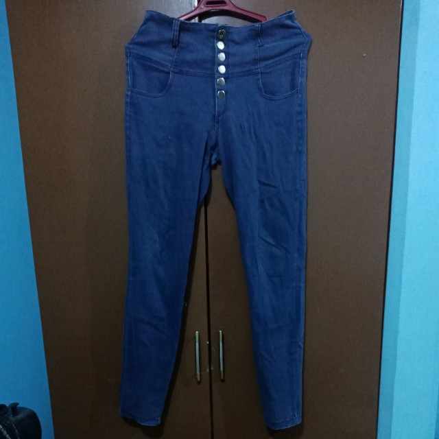 High waist dark blue skinny pants size 28