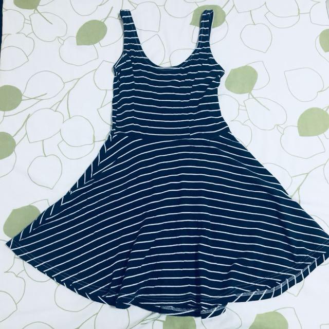 H&M Divided Striped Skater Dress