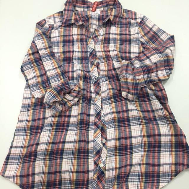 H&M Long sleeves plaid