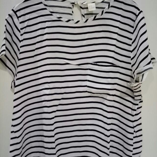 Hnm strips blouse