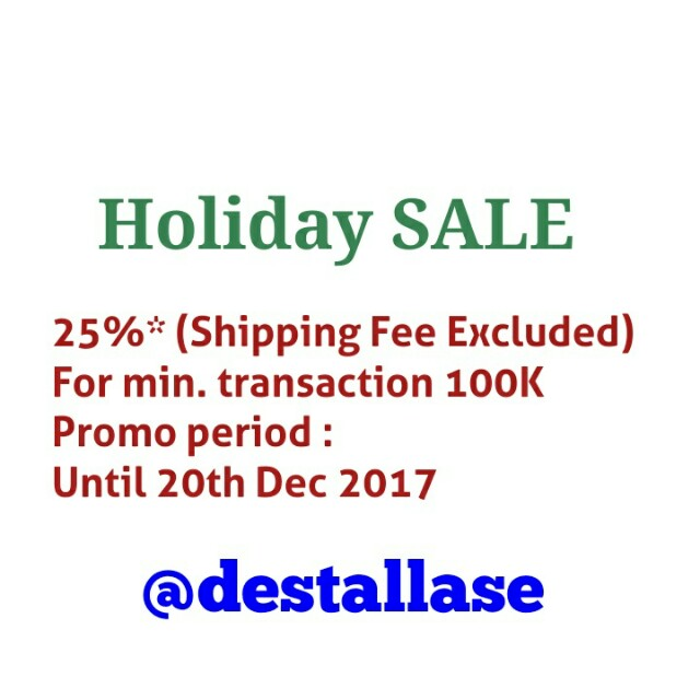 Holiday Promo 25% OFF