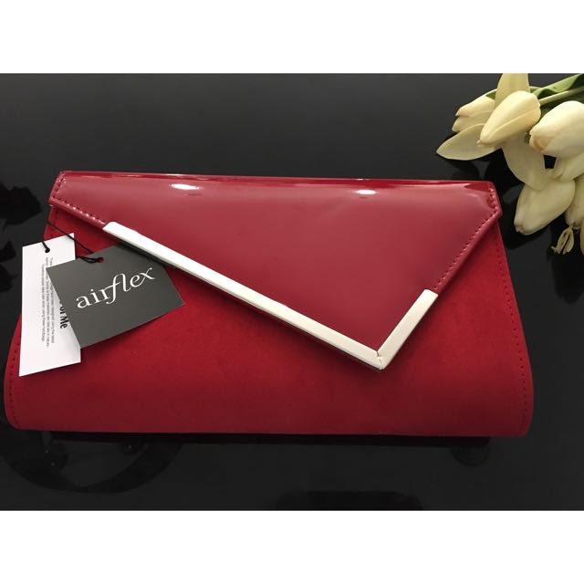 Hostess 2 red clutch from Airflex *Brand New*