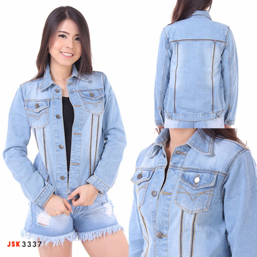 JSK Jaket Jeans wanita vintage tebal 4 variant size M-XL 8870d740e8