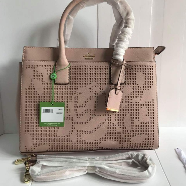 KATE SPADE New York Cameron Street Candace Floral Leather Satchel Bag