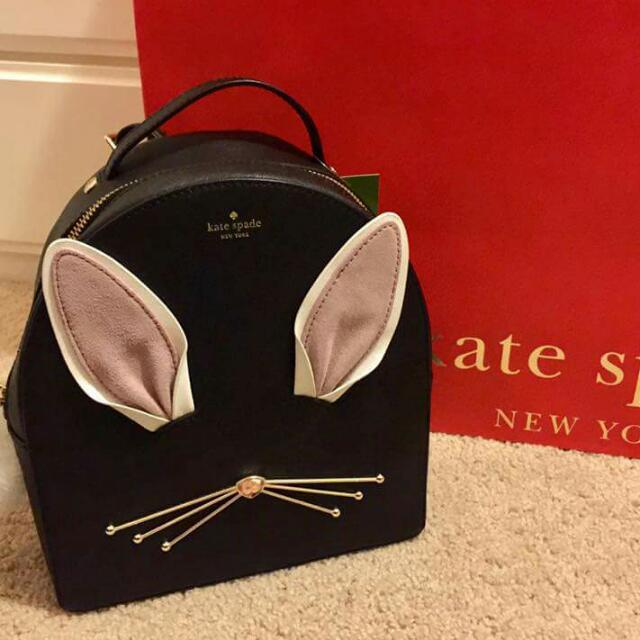 KATE SPADE Rabbit Sammi Black Backpack SUPER SALE!