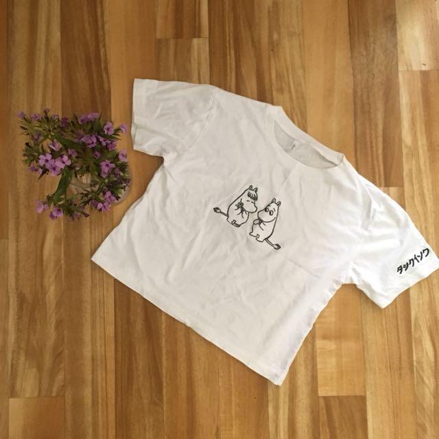 """Kawaii """"Hippo Love"""" crop t-shirt"""