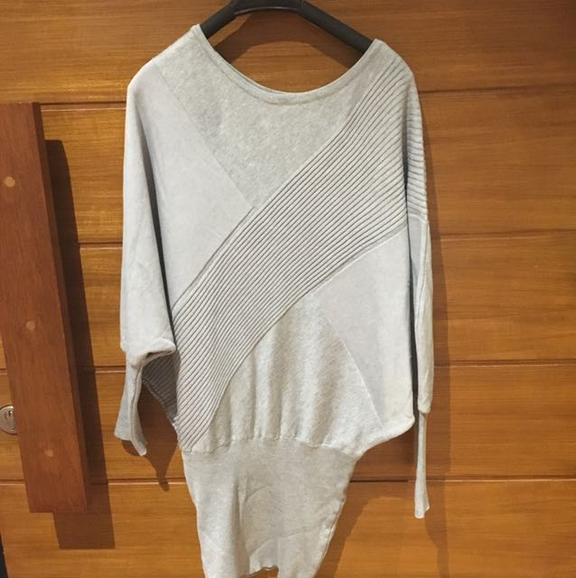 KNIT GREY TOP ALL SIZE