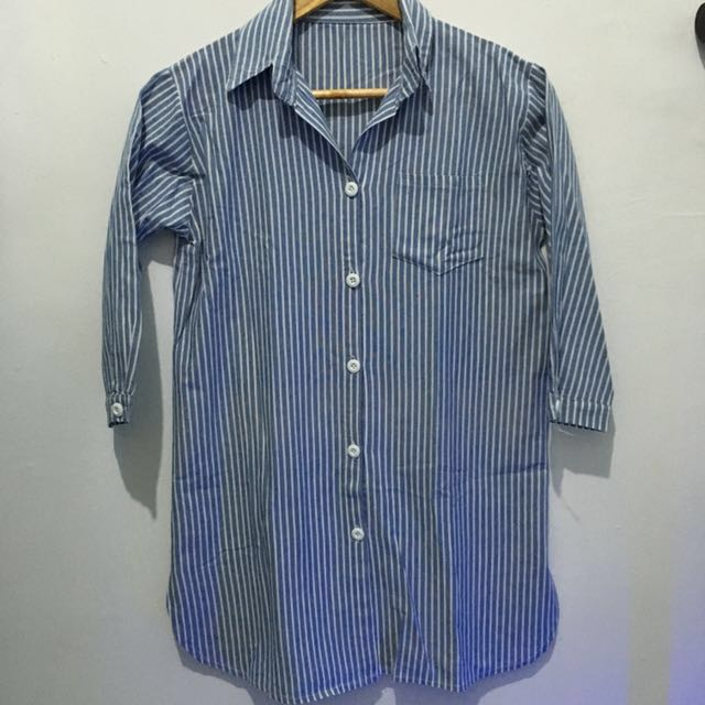 Korean Style Stripe Polo Shirt Top