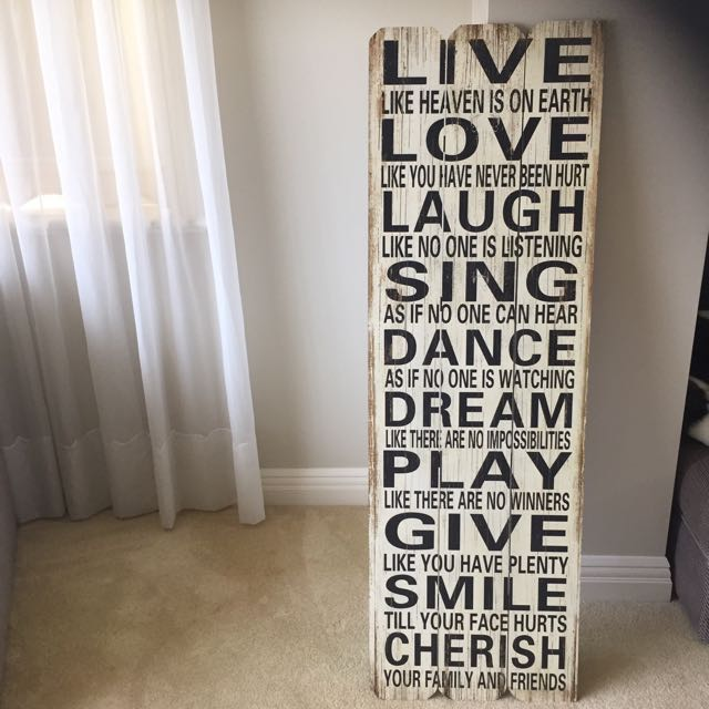 live , love , laugh sign