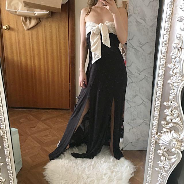 Long size 6 Maxi skirt double split!!