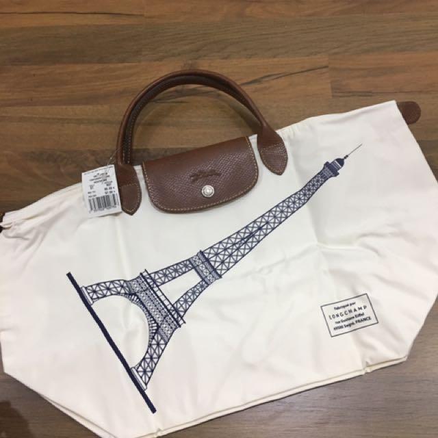 622feb91a10f Longchamp Le Pliage limited edition Eiffel Tower