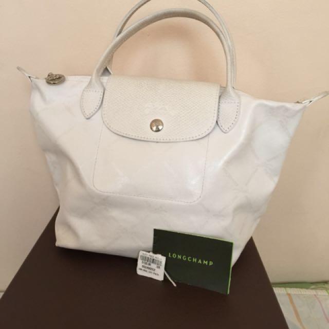 Longchamp metallic handbag