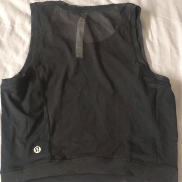 Lululemon Mesh Workout Crop Top