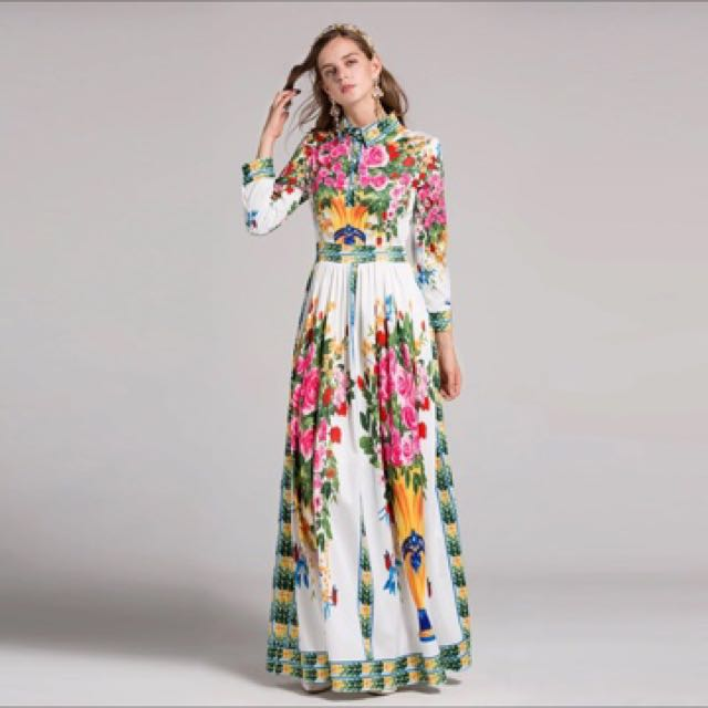 Luxury floral party dress