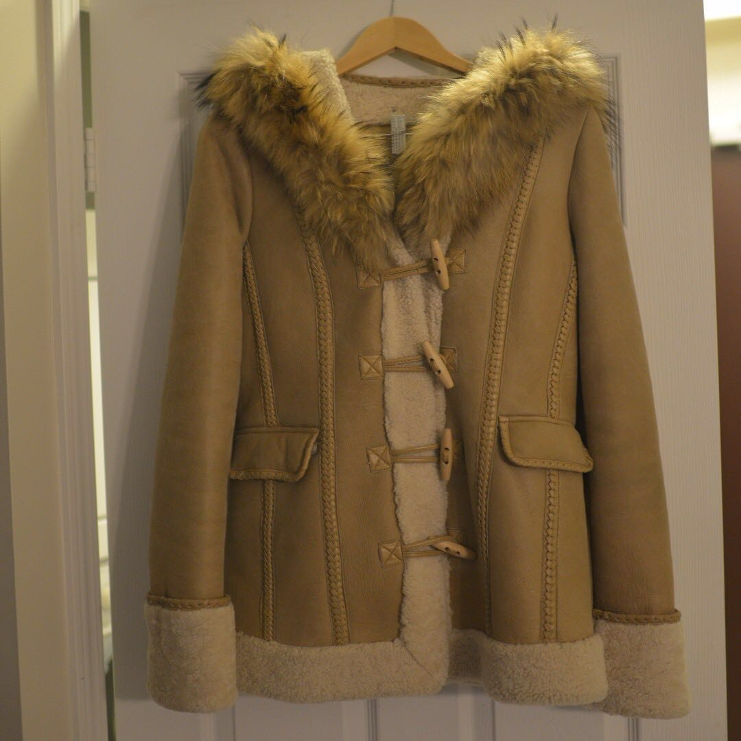 Mackage Shearling duffle coat, Size S