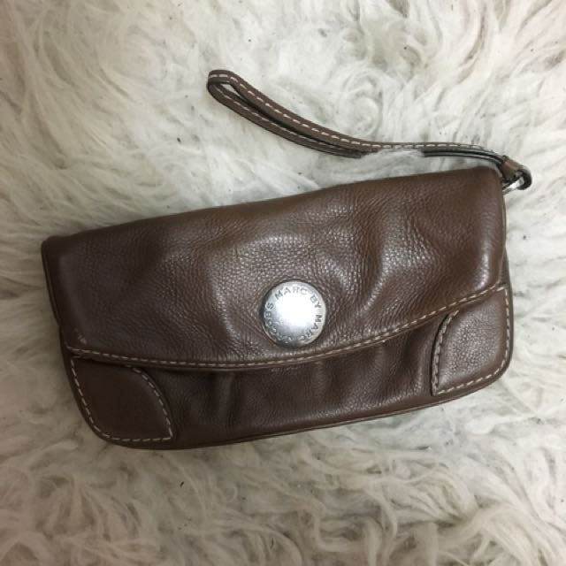 Marc by Marc Jacobs brown leather clutch