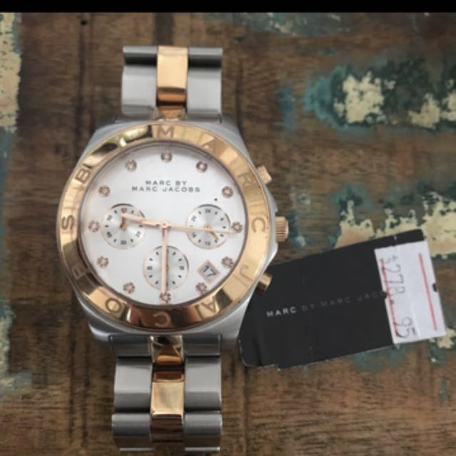 Marc jacobs two tone silver rose gold watch