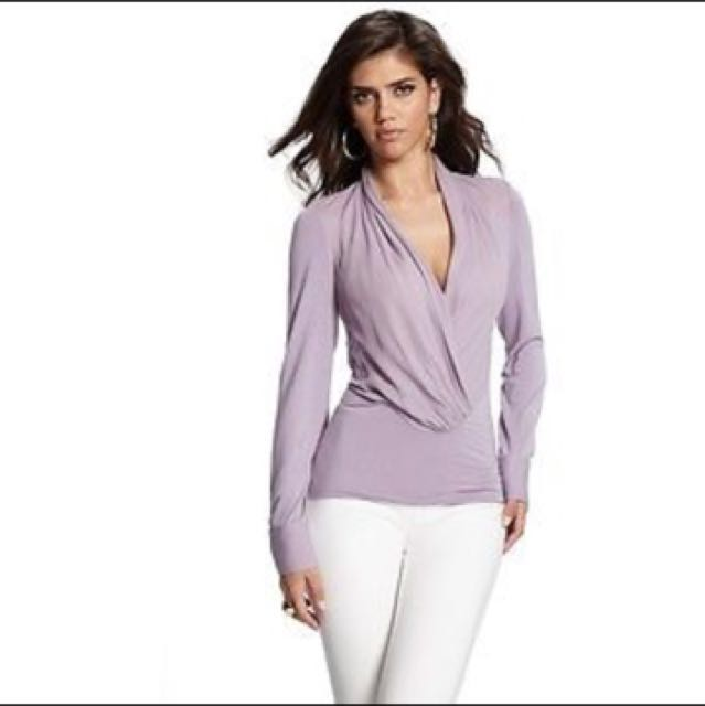 Marciano violet blouse