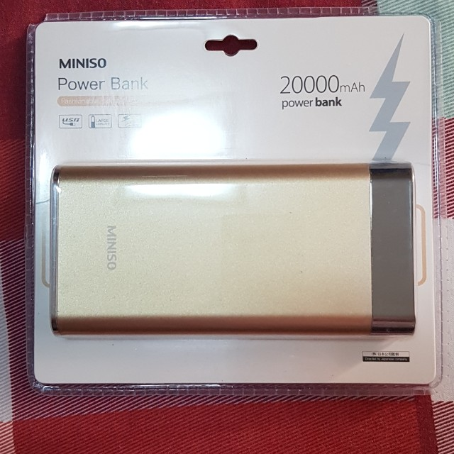 Miniso 20000 Mah Power Bank Electronics Others On Carousell