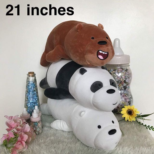Miniso We Bare Bear Stuffed Toys 21 inches