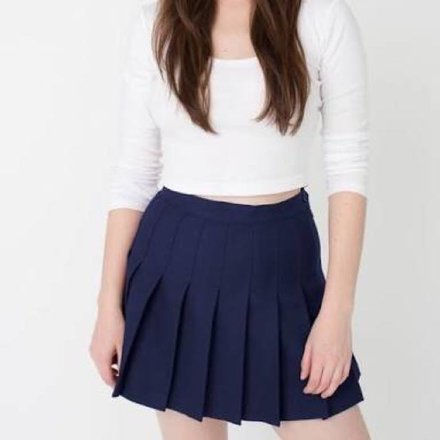 Navy tennis skirt
