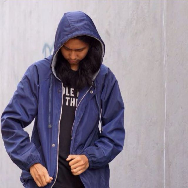 New jaket parasut windbriker navy