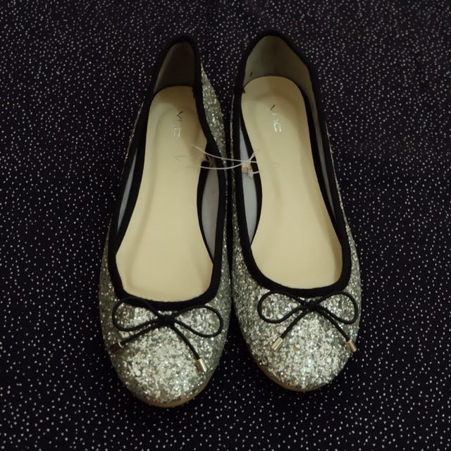 NEW VNC Silver Flat Shoes