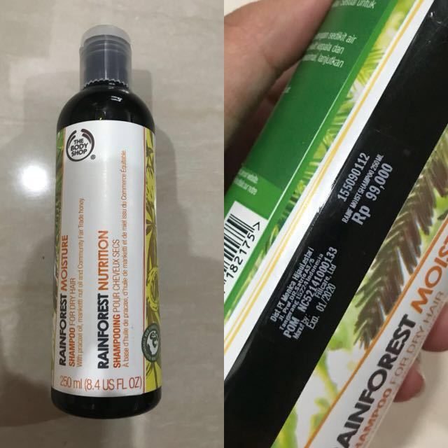 (NEW)Rainforest shampoo by the body shop