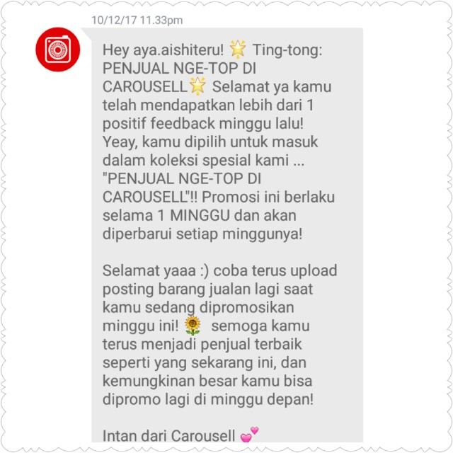 NGE-TOP 😄 Thanks Carousell ♥