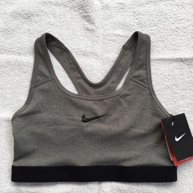 Nike pro sports bra grey size s BNWT