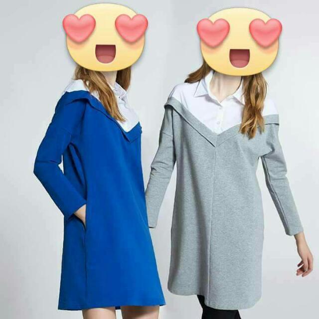 🎶正櫃Nioi藍軍风洋裝M🎶