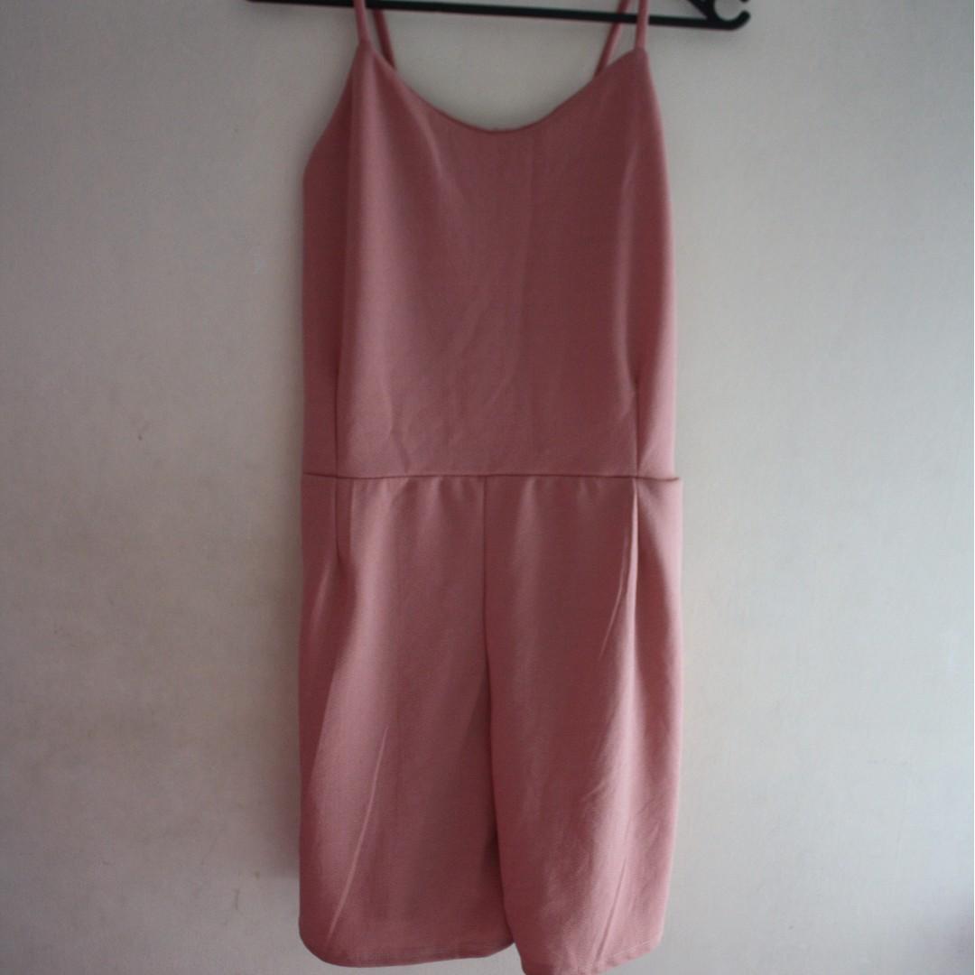 Old Rose Short Jumpsuit