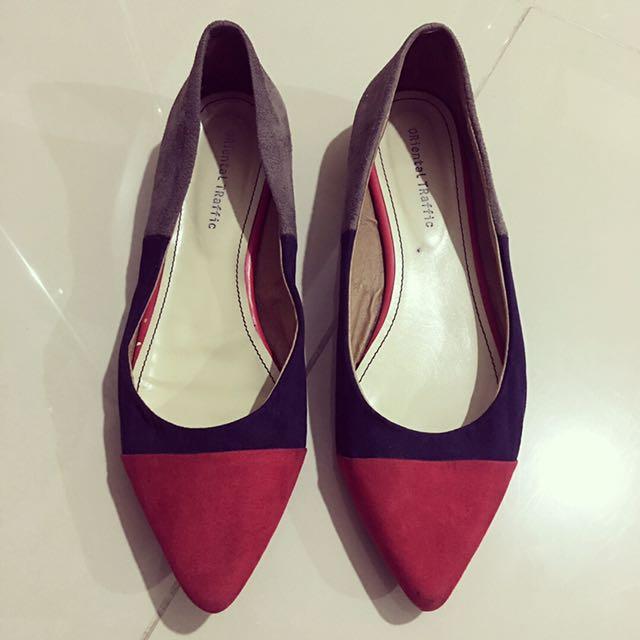 Oriental Traffic Suede Tri Color Shoes