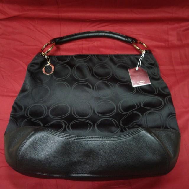 Oroton Canvas Monogram Hobo Handbag