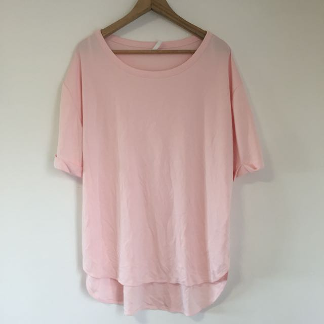 Oversize pink Staple The Label top in size XS