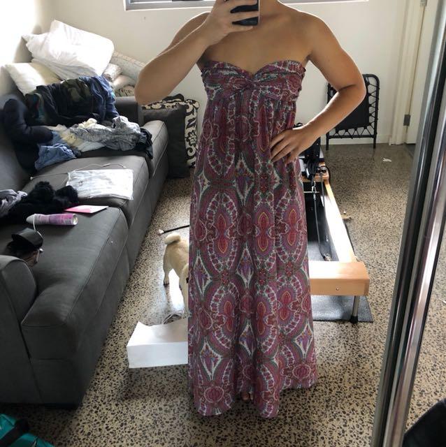 Patterned maxi dress size S