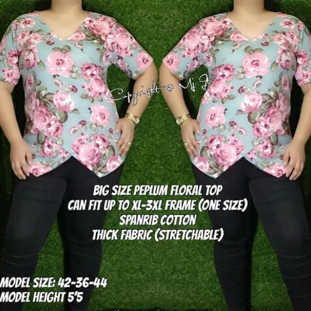 Peplum floral top