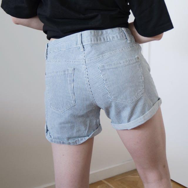 Pin stripe Denim shorts