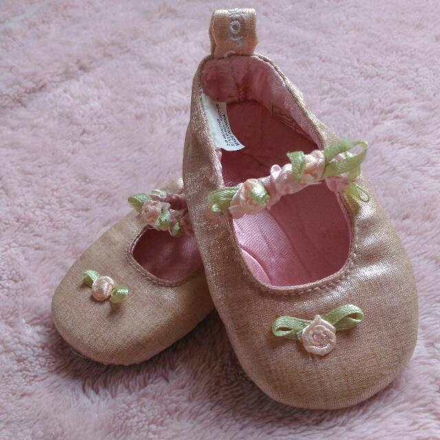 Pink Baby Shoes For Baptismal