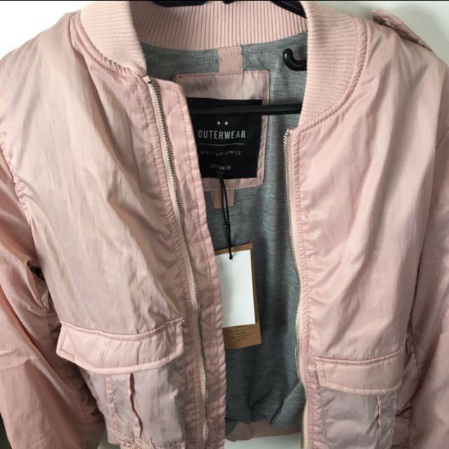 Pink bomber jacket