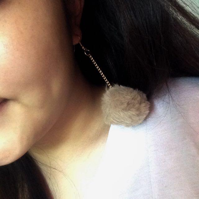 pom earrings