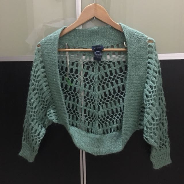 Pre loved Witchery green cape sweater