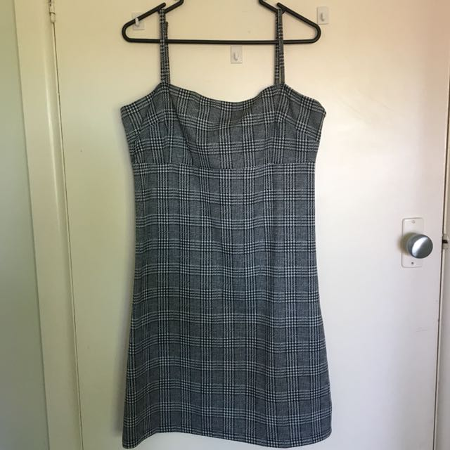 PRINCESS POLLY Square Neck Check Dress